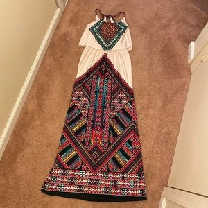 Charlotte Russe stretch summer maxi dress